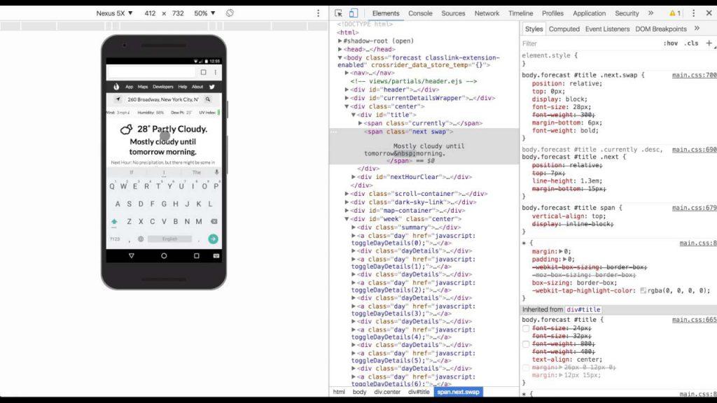 Devide Mode de Google Chrome