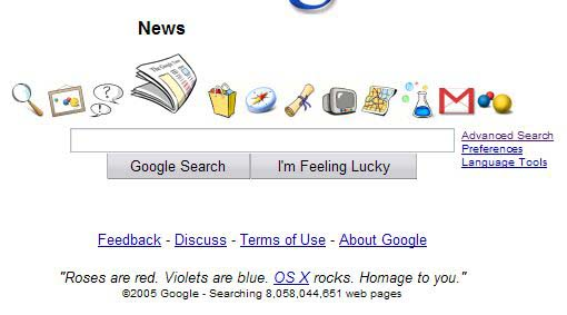 Interfaz de Google X