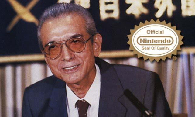 Hiroshi Yamauchi, presidente por entonces de Nintendo