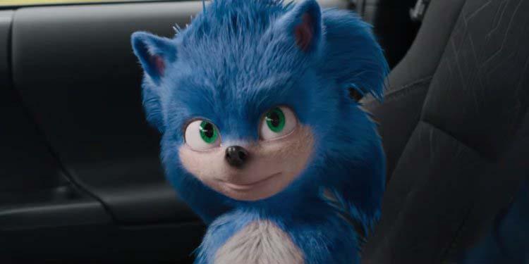Diseño de Sonic en su nueva película