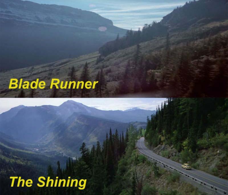 Planos de Blade Runner y El Resplandor