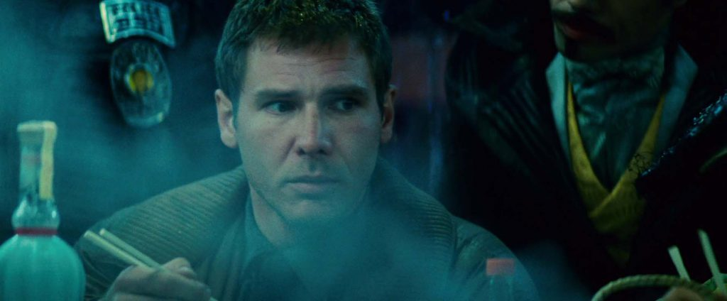 Harrison Ford como Rick Deckard en Blade Runner