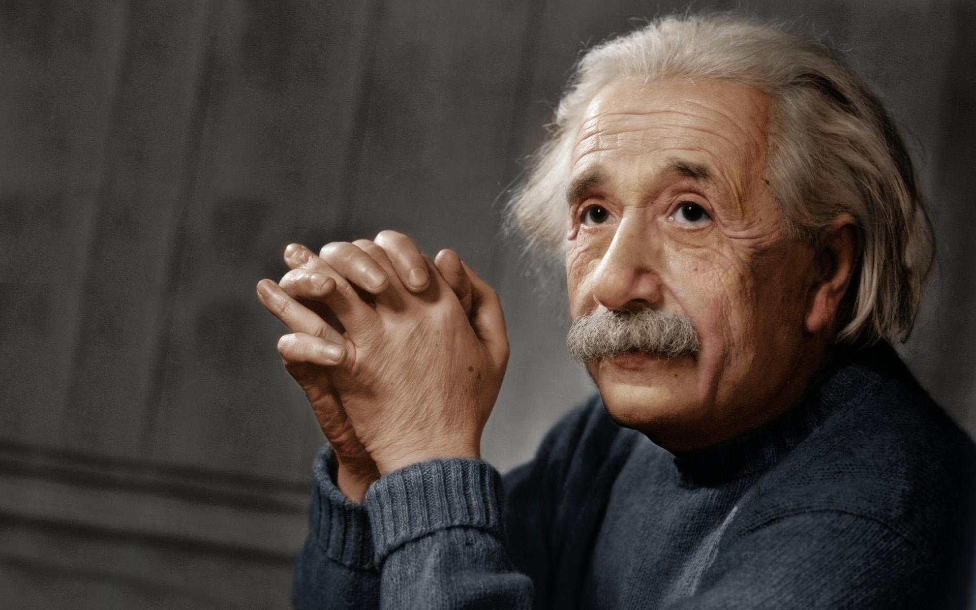 Albert Einstein a color
