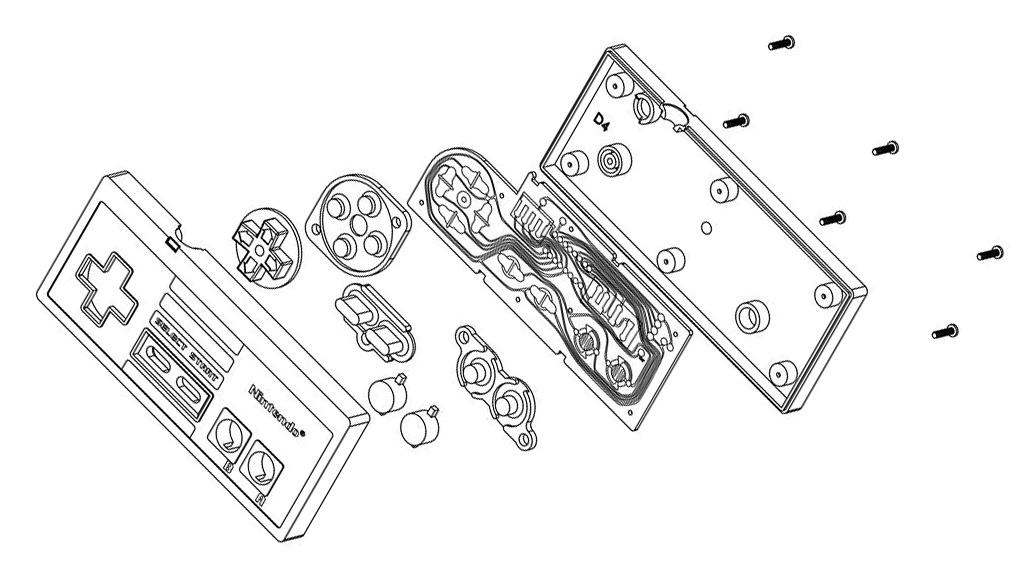 Patente oficial del mando original de NES