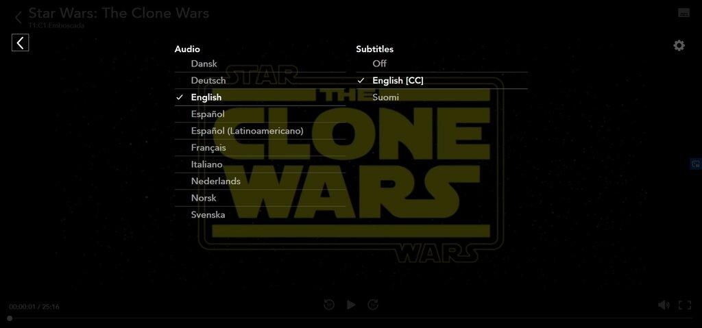 Subtítulos Clone Wars