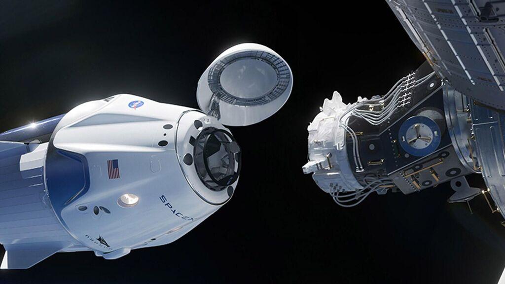 Crew Dragon y Estación Espacial Internacional
