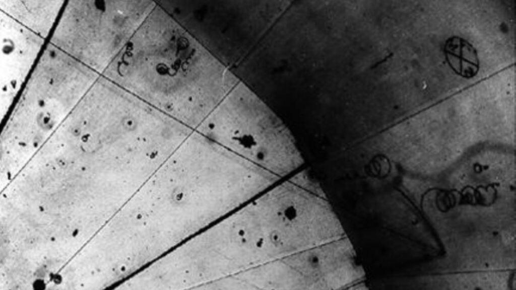 Primera aparición registrada de un neutrino