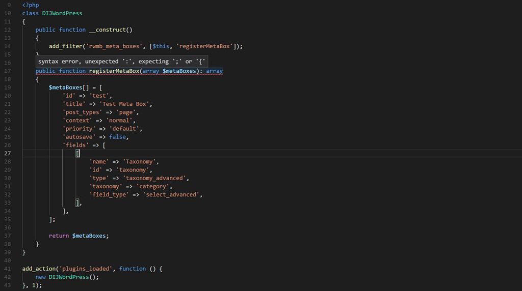 Un ejemplo sencillo de como crear metabox's