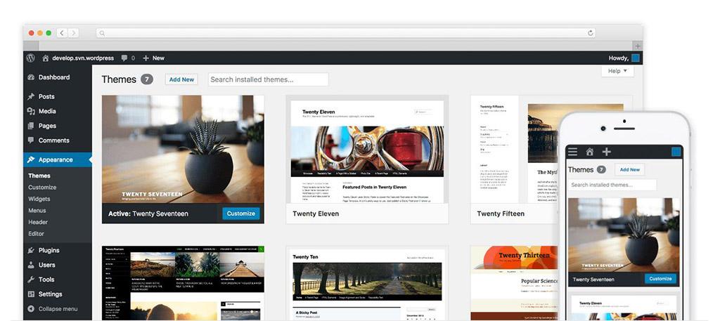 Muestra de WordPress
