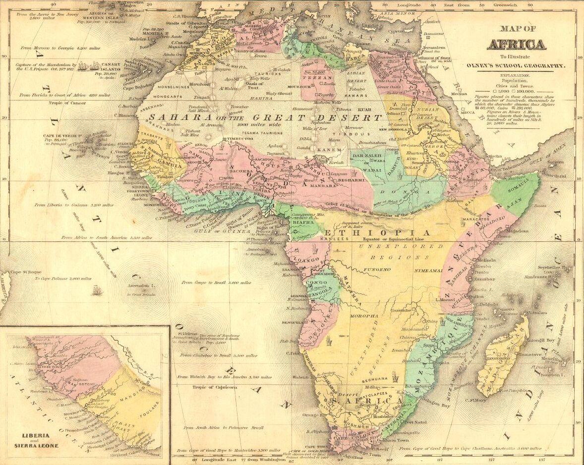 Mapa antiguo de África
