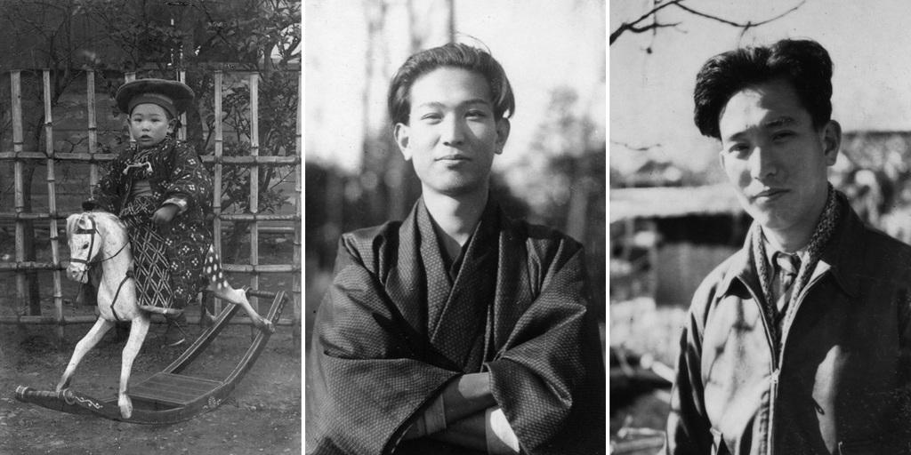Akira Kurosawa a los tres años, a los 20 años y después de los 20