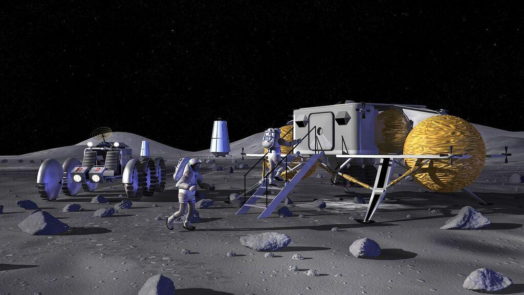 Diseño de puesto avanzado lunar de SEI. La base de Artemis podría ser muy similar a esto.