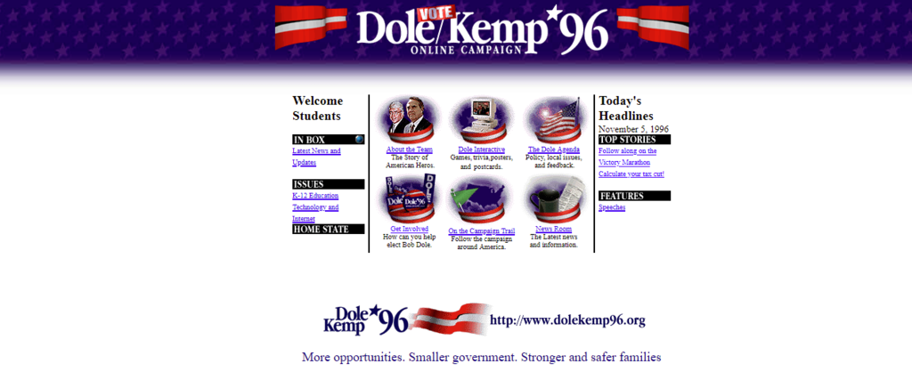 Bob Dole/Jack Kemp Presidential Campaign (1996)