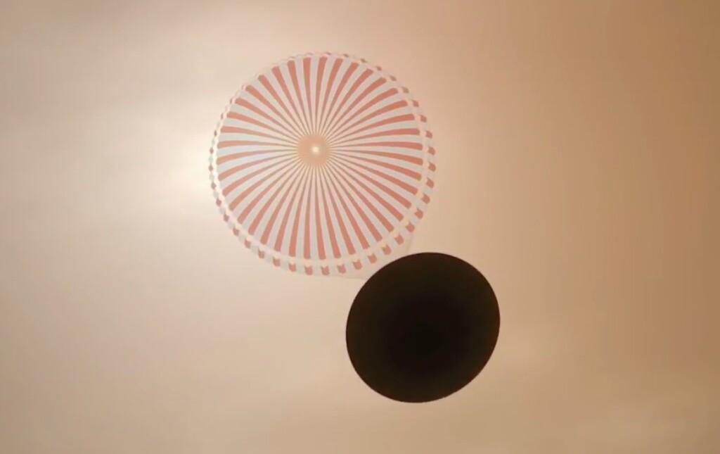 Aterrizaje con paracaídas en Marte
