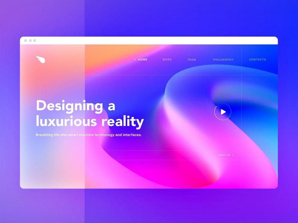 Diseño de colores vibrantes