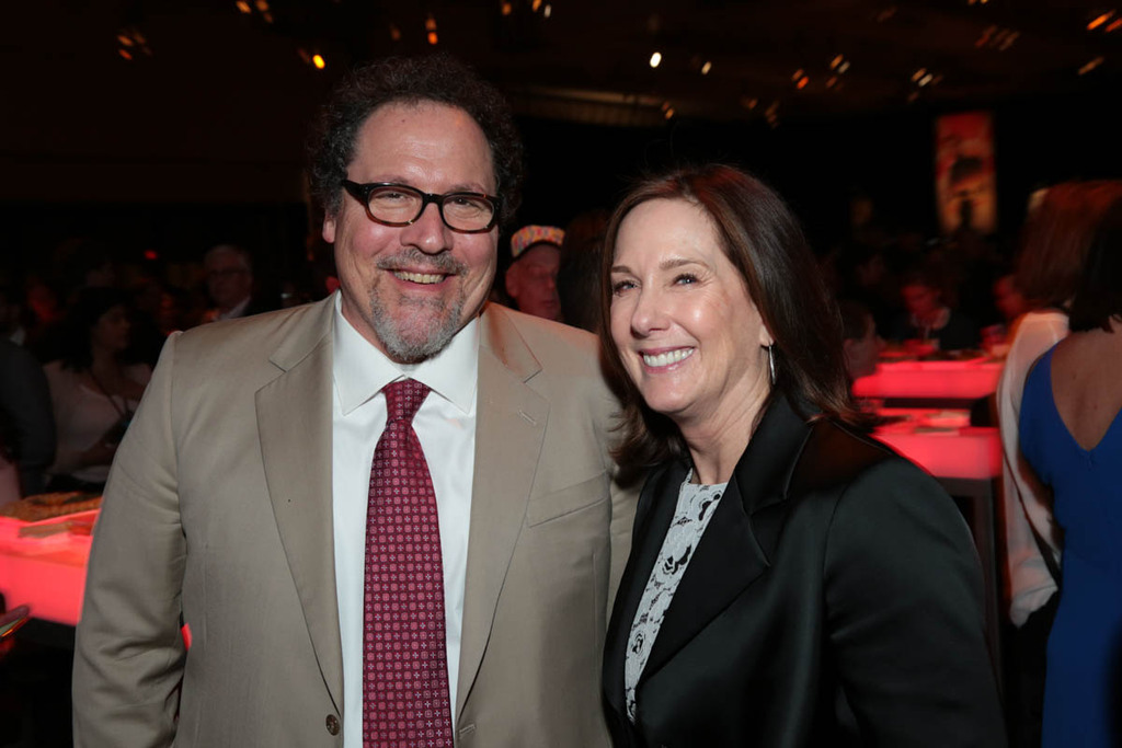 Jon Favreau y Kathleen Kennedy