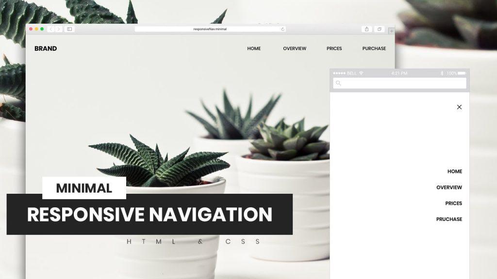 Navegación minimalista