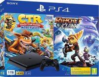 PlayStatio 4 + Crash Team Racing + Ratchet & Clank