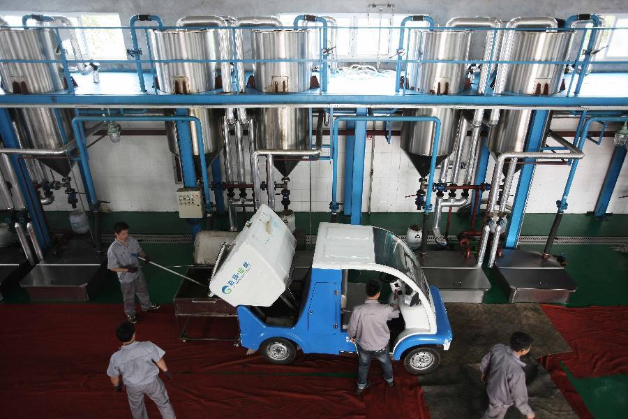 Planta industrial china de reciclaje de aceite
