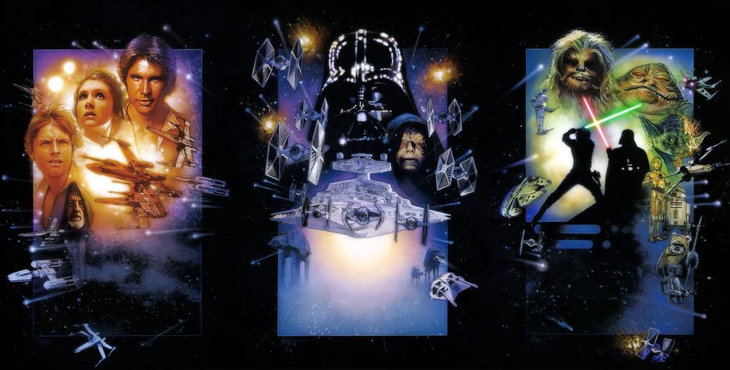 Carteles oficiales de Star Wars realizados por Drew Struzan
