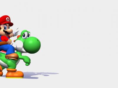 Yoshi y Mario