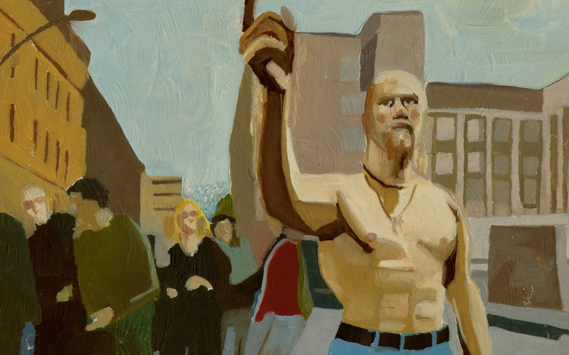 Techno Viking in Oil – Painting Internet Memes