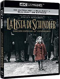 La lista de Schindler: Edición especial 25º aniversario - 4k UHD + Blu-ray + Blu-ray de extras