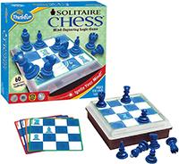 Think Fun Solitaire - Juego de ajedrez (Importado de Reino Unido)