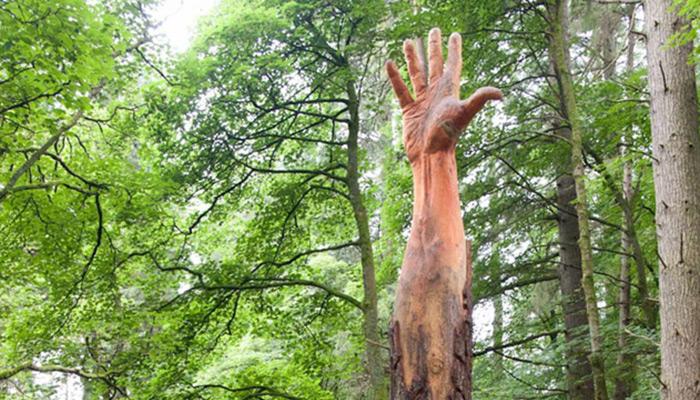 La mano gigante de Vyrnwy