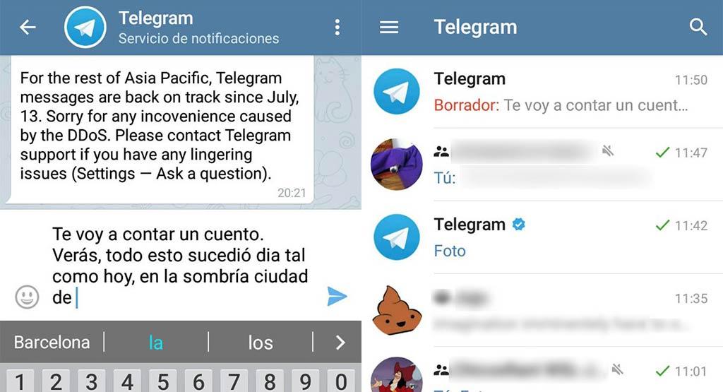 Telegram - Borrador
