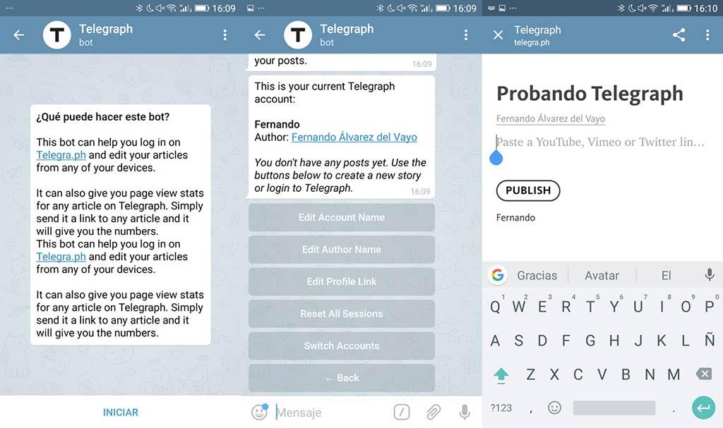 Telegram - Telegraph