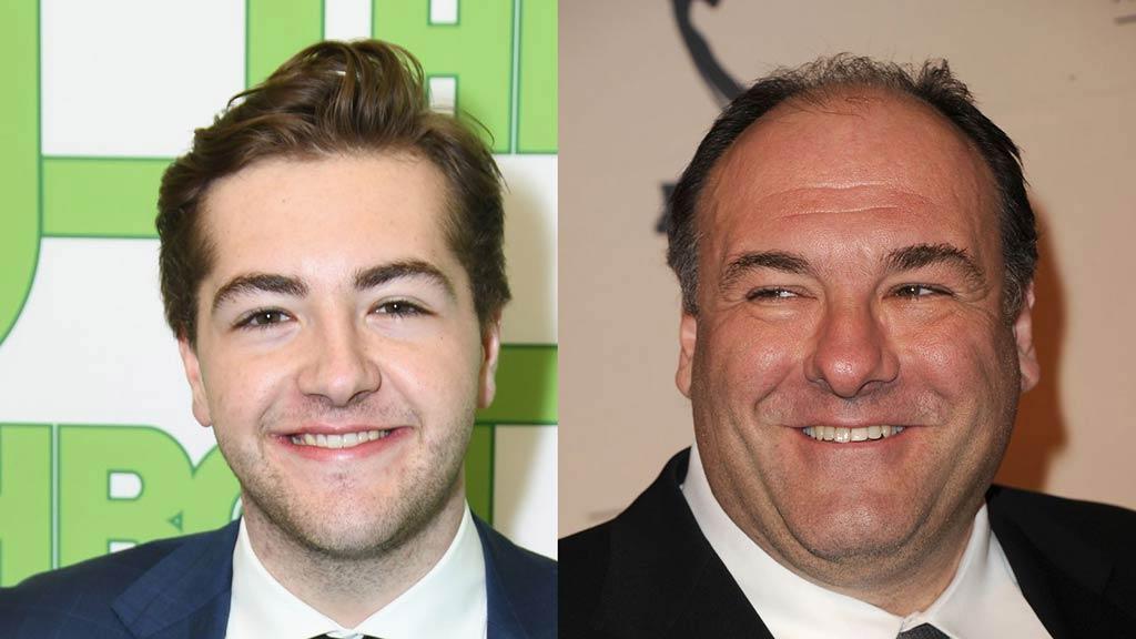 (izquierda) Michael Gandolfini, hijo (derecha) James Gandolfini, padre