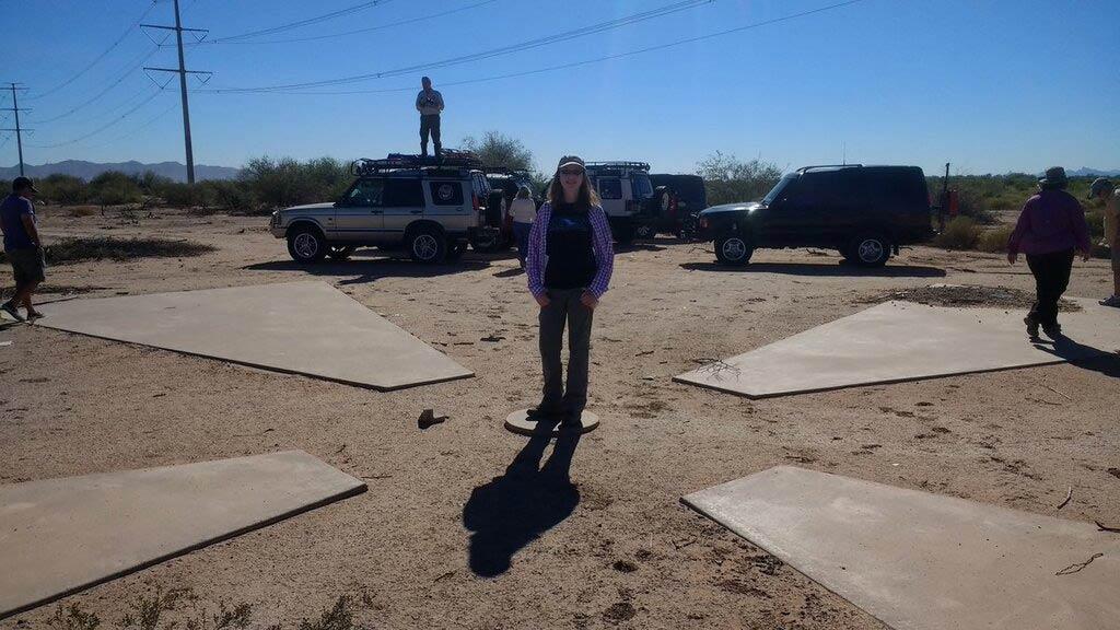 Marca de satélite en el desierto de Arizona