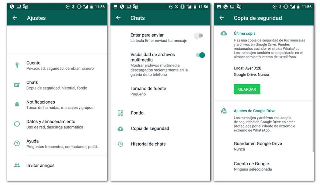 Backup de WhatsApp